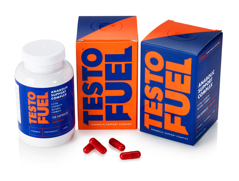 Bottle and boxes containing TestoFuel