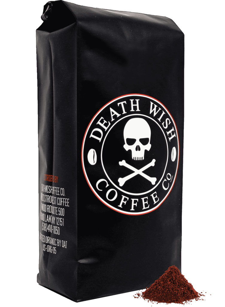 Bag of Deathwish Coffee 'The World's Strongest Coffee'